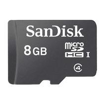 Cartão de Memória Micro SD Sandisk C4 com Adaptador 8 GB