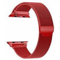 Pulseira 4LIFE Estilo Milanes para Apple Watch 42MM, Magnetico - Vermelho