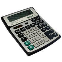 Calculadora DTC DT-630N com 12 Digitos - Prata/Preta