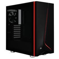 Corsair Carbide Spec 06 LED Red Gabinete Media Torre com Vidro Tempered