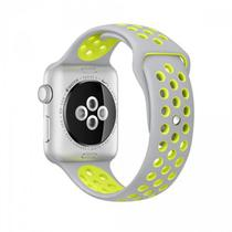 Pulseira 4LIFE de Silicone Nike para Apple Watch 38MM - Prata / Verde