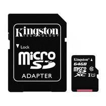 Cartao de Memoria Micro SD Kingston SDCS de 64GB MSDXC-I - Preto