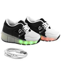 Tenis Gati LED Kids TXL-1003 Branco N27