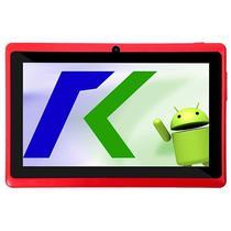 """Tablet Keen A78 7.0"""" Wifi 2MP VGA Os 4.4.2 Vermelho com Capa"""