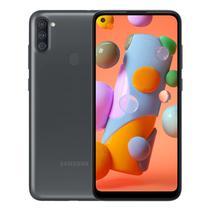 Smartphone Samsung Galaxy A11 SM-A115M DS 2/ 32GB 6.4 13+2+5/ 8MP A10 - Preto (Gar. PY/ Uy/ Arg)