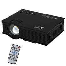 Projetor Audisat PJ-046 de 1.200 Lumens Wi-Fi/HDMI Bivolt - Preto