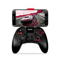 Controle Wireless para Smartphone Quanta QTJBS4000 com Bluetooth - Preto/Vermelho