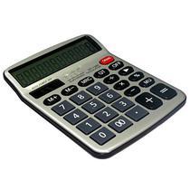 Calculadora DTC DT-1280 com 12 Digitos - Prata/Preta