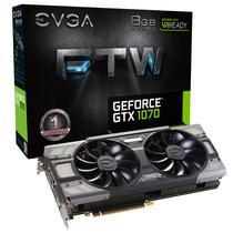 Placa de Vídeo EVGA GTX1070 FTW DT Gam Acx 3.0 8GB/GDDR5/256/1506MHZ (08G-P4-6276-KR)