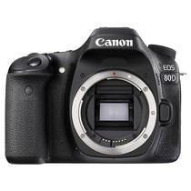 """Camera Fotografica Canon Eos 80D (W) LCD 3.0"""" 24.2MP Af de 45 Pontos - Preta (s/Lente)"""