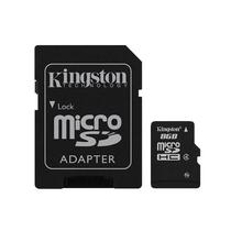 Cartao de Memoria Kingston Micro SDC4/8GB SDHC de 8GB com Adaptador - Preto