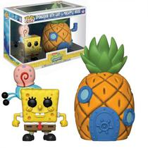 Bonecos Funko Pop Spongebob - Spongebob With Gary Eamp; Pineapple House 2PACK
