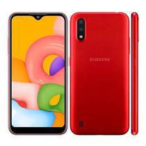 Smartphone Samsung Galaxy A01 SM-A015M Tela 5.7 Dual Sim 32GB - Vermelho