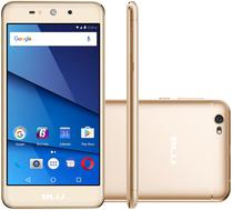 "Smartphone Blu Grand XL Dual Sim 3G Tela 5.5""HD Cpu 4Core Cam. 8MP+5MP Dourado"