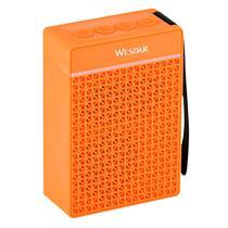 Caixa de Som Wesdar K35 1200MAH / 3W / Bluetooth / USB / Radio FM / Cartao TF / Microfone - Laranja