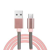 Cabo USB Microusb 4LIFE com Mola - Rose