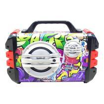 Caixa de Som Megastar HYK50BTR Bluetooth / USB / Cartao SD + Microfone - Vermelho