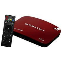 Receptor Fta Globalsat GS-600 4K RJ45/ HDMI/ USB/ Slot para Micro SD - Vermelho/ Preto
