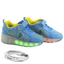 Tenis Gati LED Kids TXL-1004 Azul N32