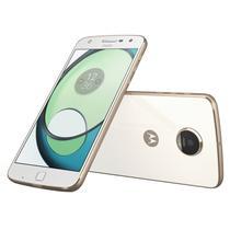 Smartphone Motorola Moto Z Play XT1635 64GB Lte Dual Sim Tela 5.5 Cam.16MP+5MP-Branco/Dourado