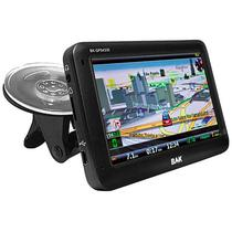 "GPS BAK BK-GPS4330 Tela 4.3"" com Mapa/Sistema Anti Radar/Os Windows Ce - Preto"