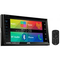 """Toca DVD Automotivo JVC KW-V620BT Tela de 6.8"""" com Bluetooth/USB/HDMI - Preto"""