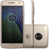 "Smartphone Motorola Moto G5 Plus XT1681 32GB Lte Dual Sim Tela 5.2"" Cam.12MP+5MP-Dourado"