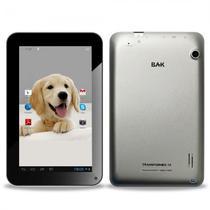 Tablet BAK Ibak Transformers 8GB / Tela 7EQUOT; / Cameras 12MP e 2MP / 512MB Ram / Android 8.1 - Prata