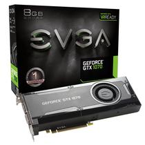 Placa de Vídeo EVGA GTX 1070 Gam 8GB/DDR5/256B/1506MHZ (08G-P4-5170-KR)