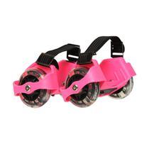 Patins Adaptado com Rodas de LED Rosa
