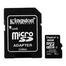 Cartao de Memoria Micro SD de 16GB Kingston SDC4/16GB SDHC - Preto