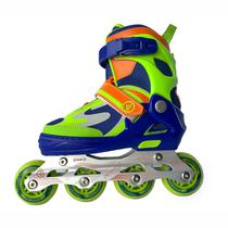 Patins-Rollers Perfect Sports SS-159A Tamanho s 31-34 Abec 7 - Azul/Verde