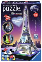 Quebra Cabeca Ravensburger Puzzle 3D LED Torre Eiffel Mickey & Minnie Night Edition (216PC