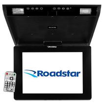 "Tela Automotiva de Teto 12.1"" Roadstar RS-201RM com USB/Slot SD - Preta"