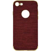 Case iPhone 7/8 Wesdar - Vermelho Escuro/Dourado