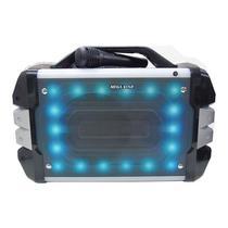 Caixa de Som Megastar HYK53BTS Bluetooth / Karaoke / USB / Cartao SD + Microfone - Prata e Preto
