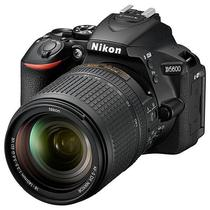 Camera Nikon D5600 24.2MP Bluetooth/Wi Fi/NFC + Lente Af-s DX Nikkor 18-140MM VR - Preta