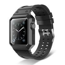 Pulseira com Capa 4LIFE de Silicone para Apple Watch 42MM - Preto