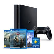 Console Sony Playstation 4 Slim 1TB + God Of War + Horizon Zero Dawn + Shadow Of The Colossus