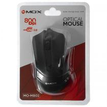 Mouse Optico Mox MO-M802 800 Dpi / USB - Preto