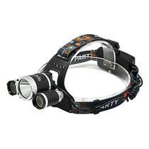 Lanterna de Cabeca Quanta QTLDC43 LED/10 Watts T6 Recarregavel - Preta