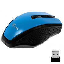 Mouse Optico Sem Fio X-Tech XT-MS767 USB de 1.200DPI - Preto/Azul