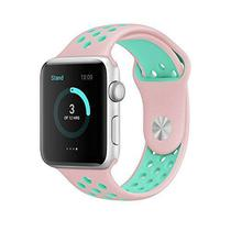Pulseira 4LIFE de Silicone Nike para Apple Watch 38MM - Vintrose / Turquesa