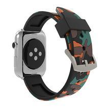 Pulseira 4LIFE de Silicone para Apple Watch 42MM - Laranja Camuflado