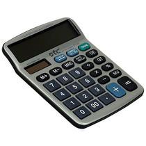 Calculadora DTC DT-686 com 12 Digitos - Prata/Preta