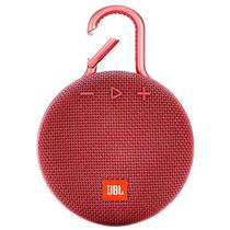 Caixa de Som JBL Clip 3com Bluetooth/Auxiliar Bateria 1.000 Mah - Vermelho