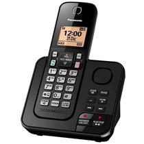 "Telefone Panasonic KX-TGC360LCB 1.6""/RJ11/Pilha AAA - Preto"