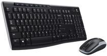 Teclado Mouse e Logitech Sem Fio MK-270