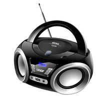 Aparelho de Som Quanta QTRPB438 MP3/CD-R/CD-RW Bivolt com Radio FM - Preto/Prata