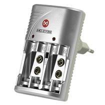 Carregador de Pilhas Mox MO-CB738 - Cinza